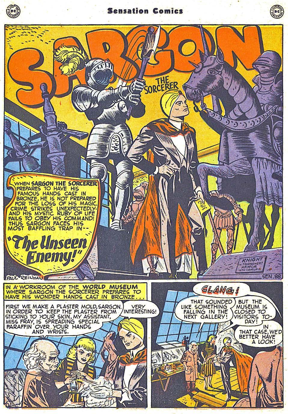 Read online Sensation (Mystery) Comics comic -  Issue #79 - 24