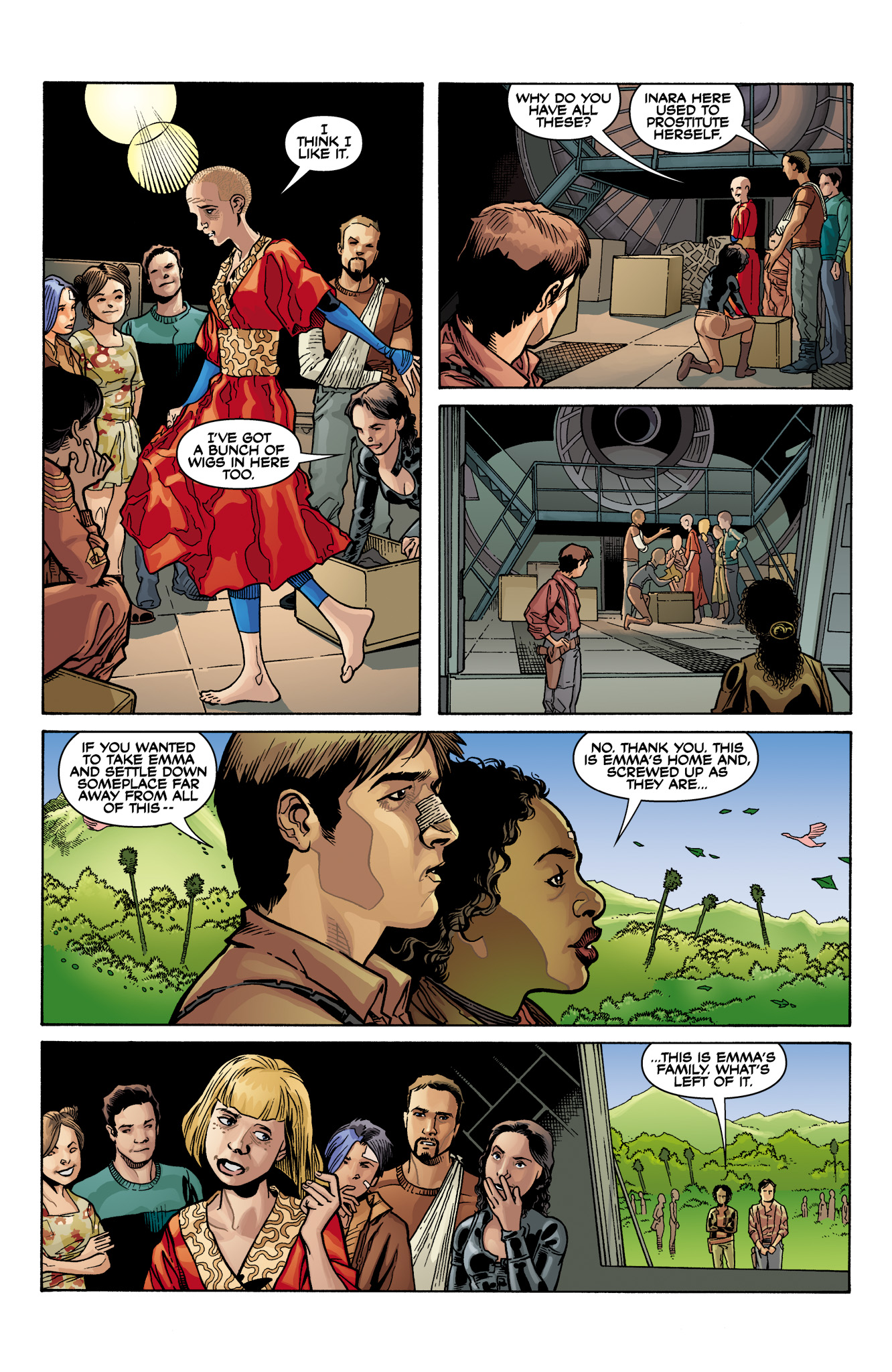 Read online Serenity: Firefly Class 03-K64  Leaves on the Wind comic -  Issue #6 - 24
