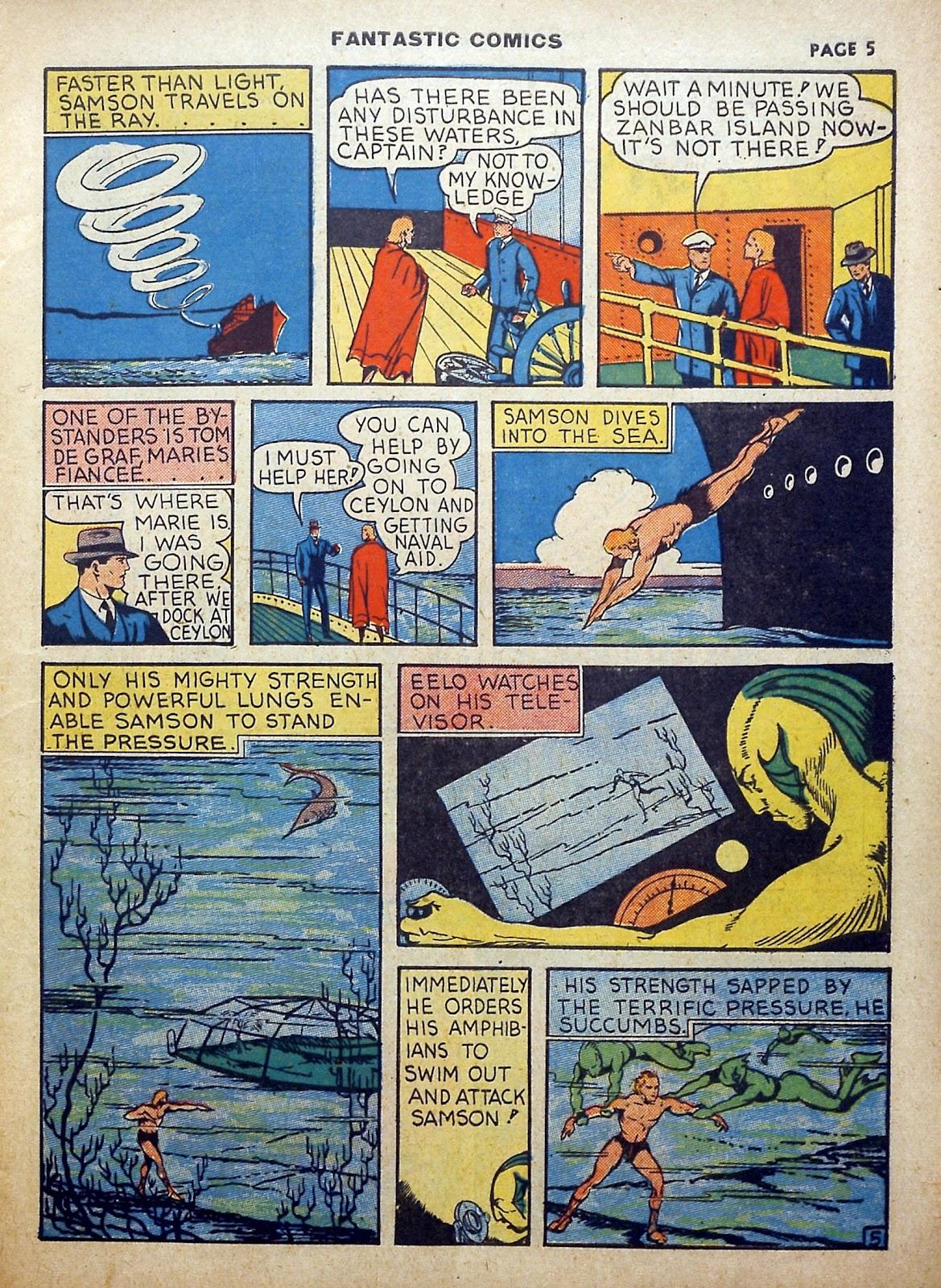 Read online Fantastic Comics comic -  Issue #5 - 6