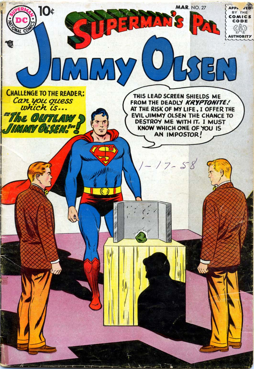 Supermans Pal Jimmy Olsen (1954) 27 Page 1