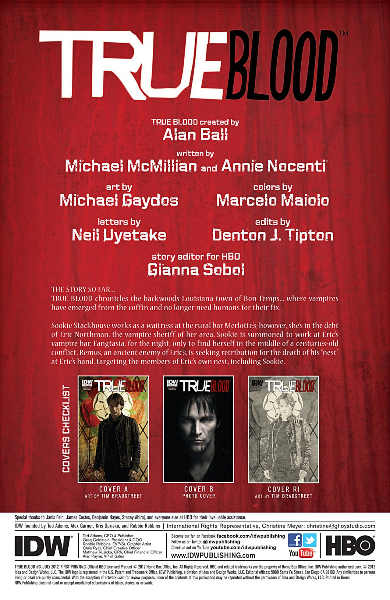 Read online True Blood (2012) comic -  Issue #3 - 2