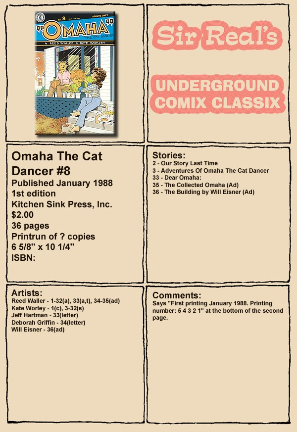Omaha the Cat Dancer (1986) 8 Page 1