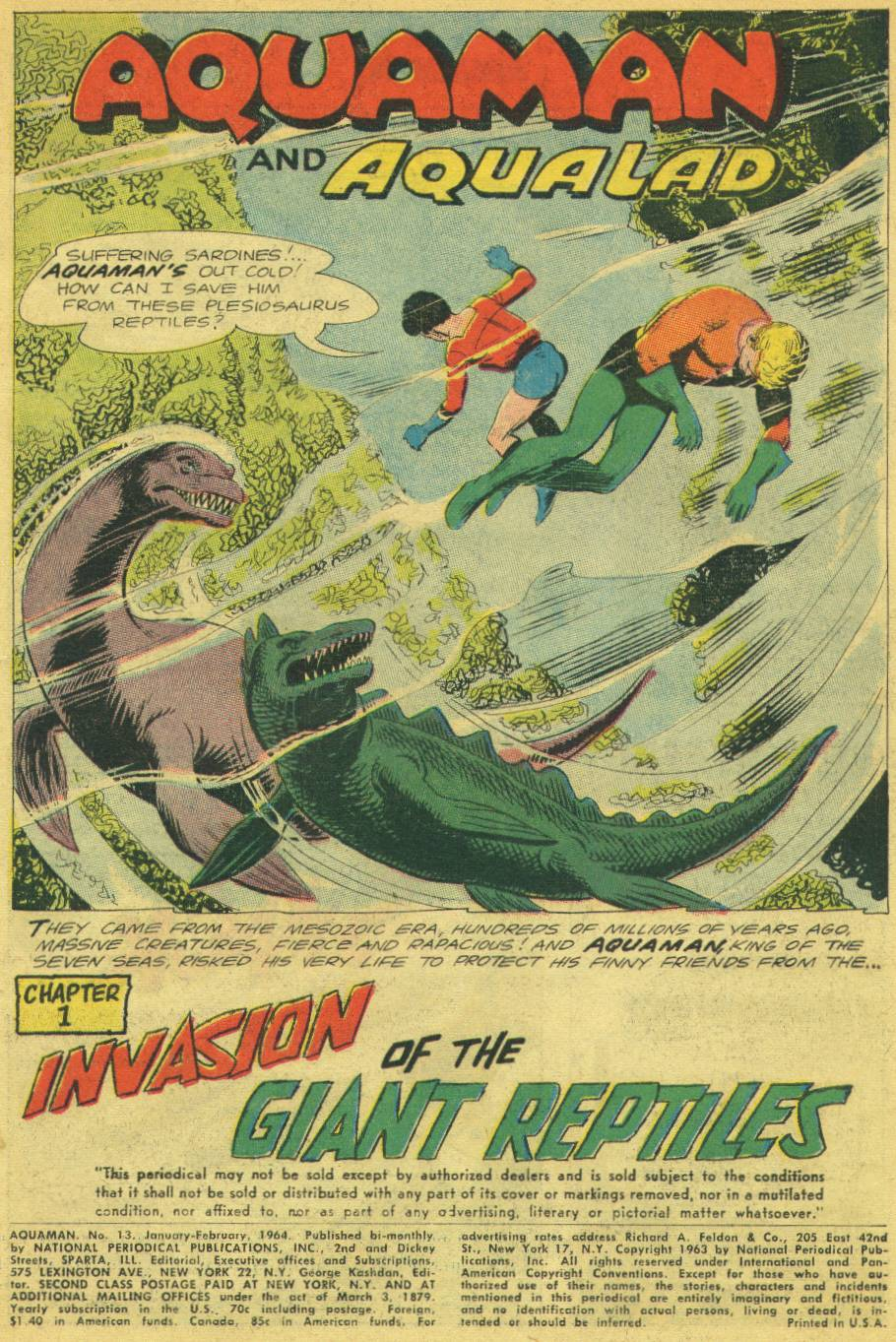 Read online Aquaman (1962) comic -  Issue #13 - 3