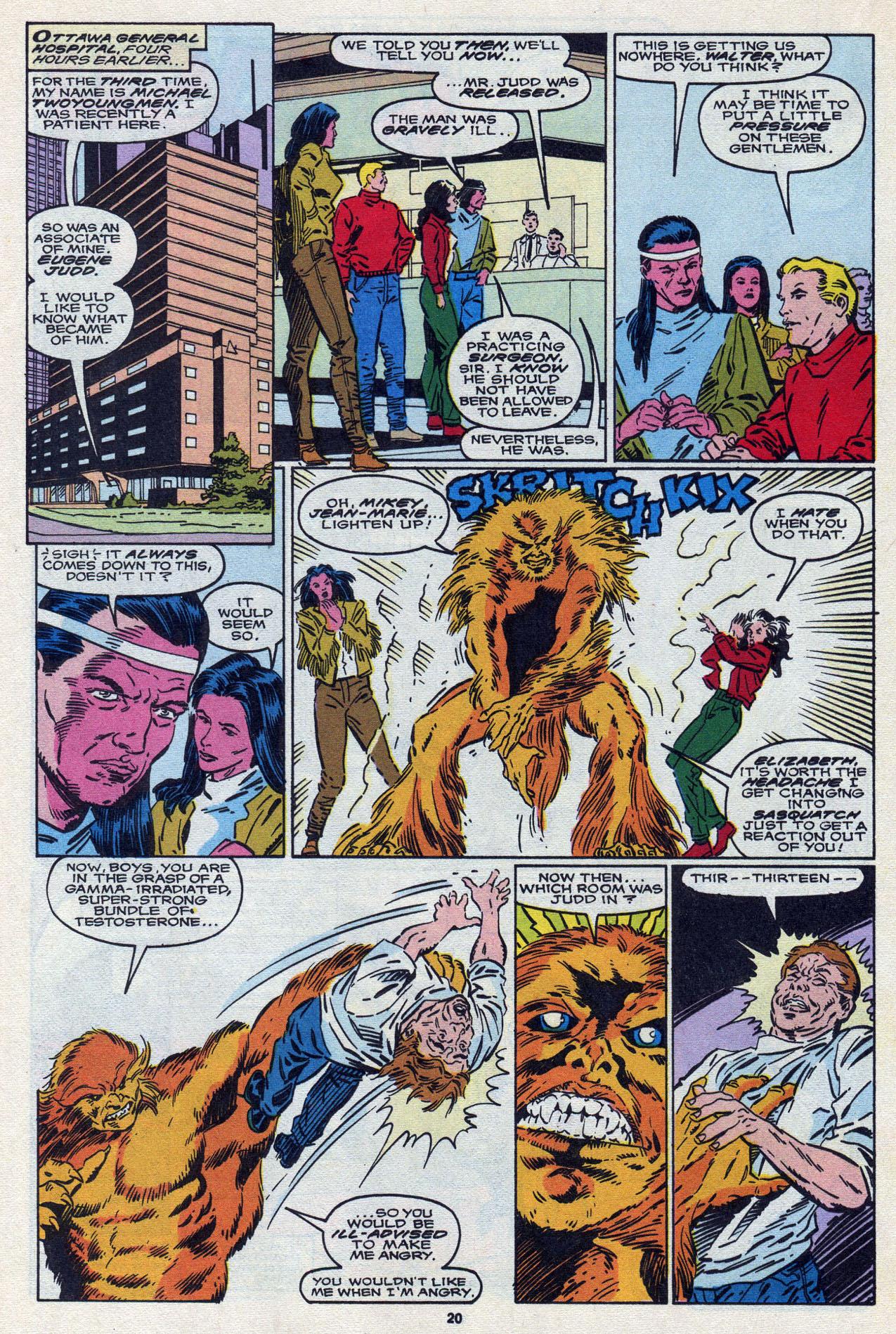 Read online Alpha Flight (1983) comic -  Issue #87 - 21