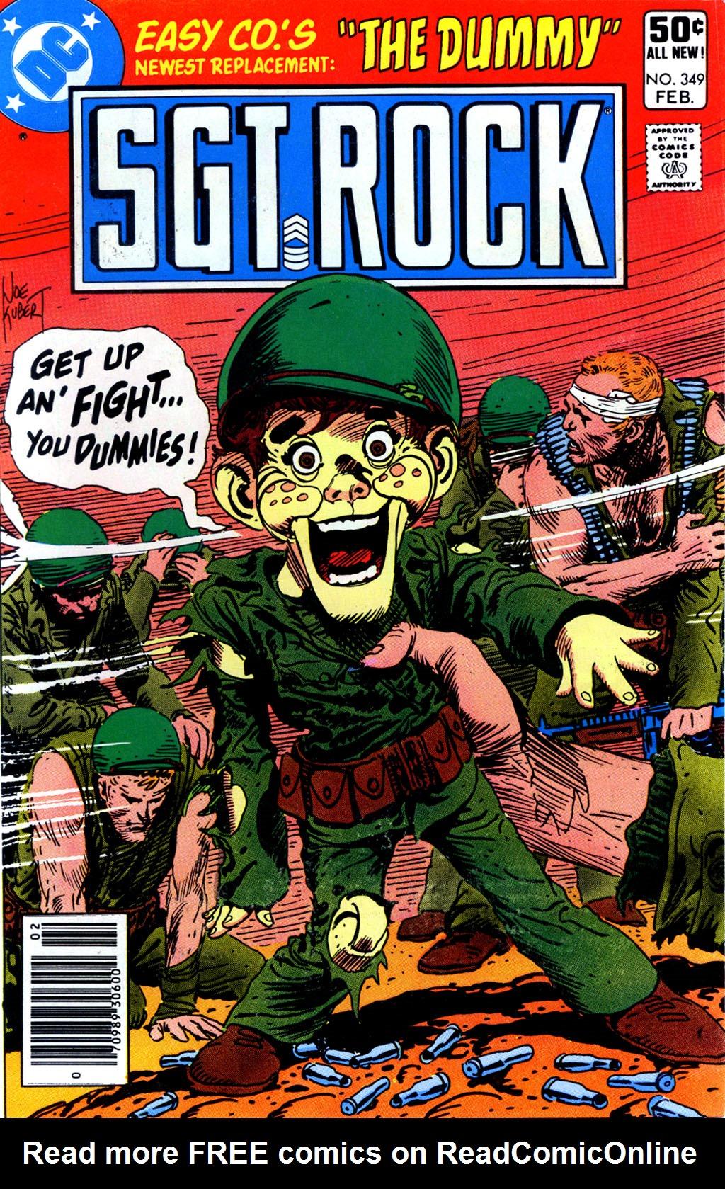 Read online Sgt. Rock comic -  Issue #349 - 1