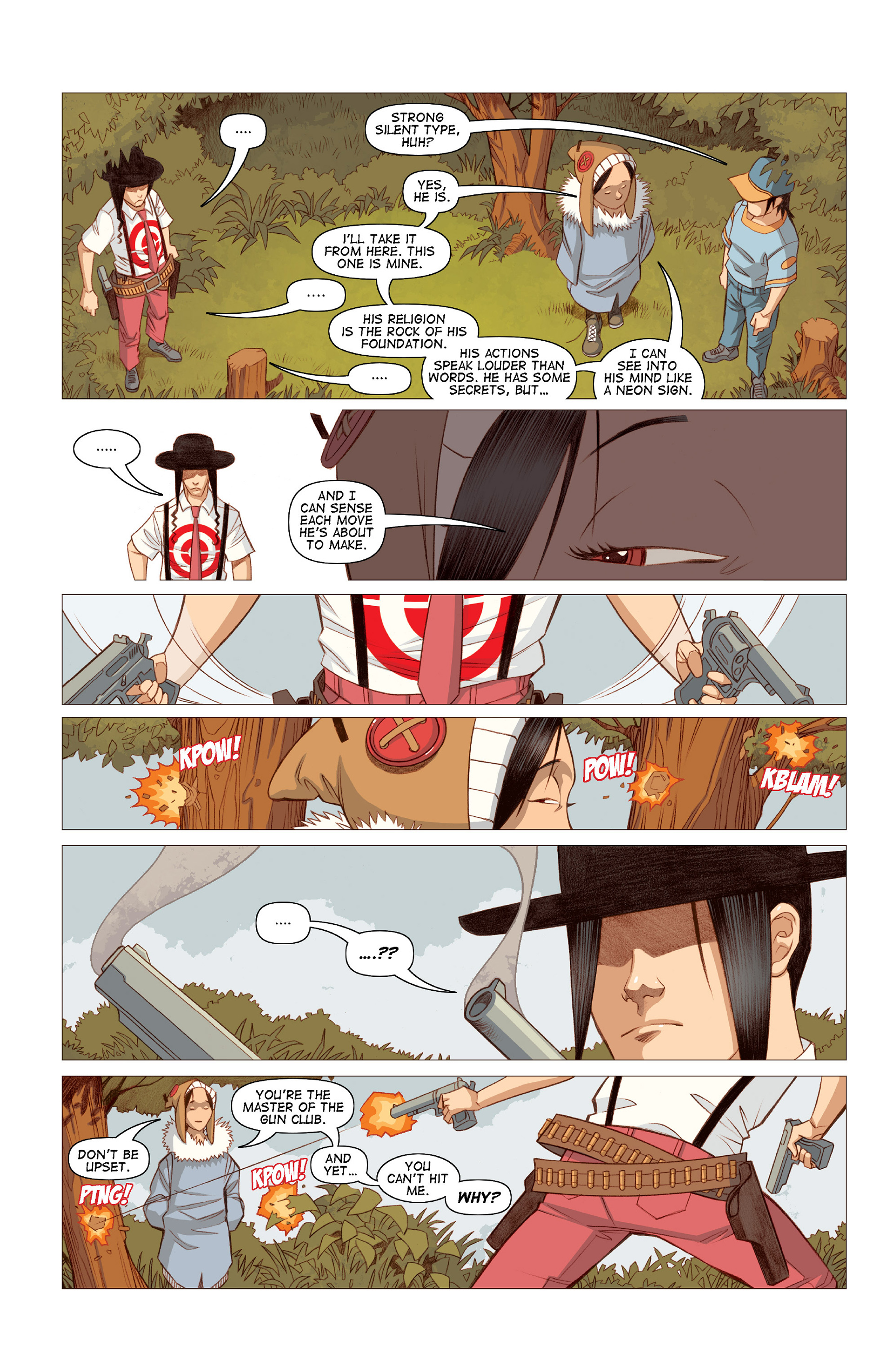 Read online Five Weapons comic -  Issue #10 - 21