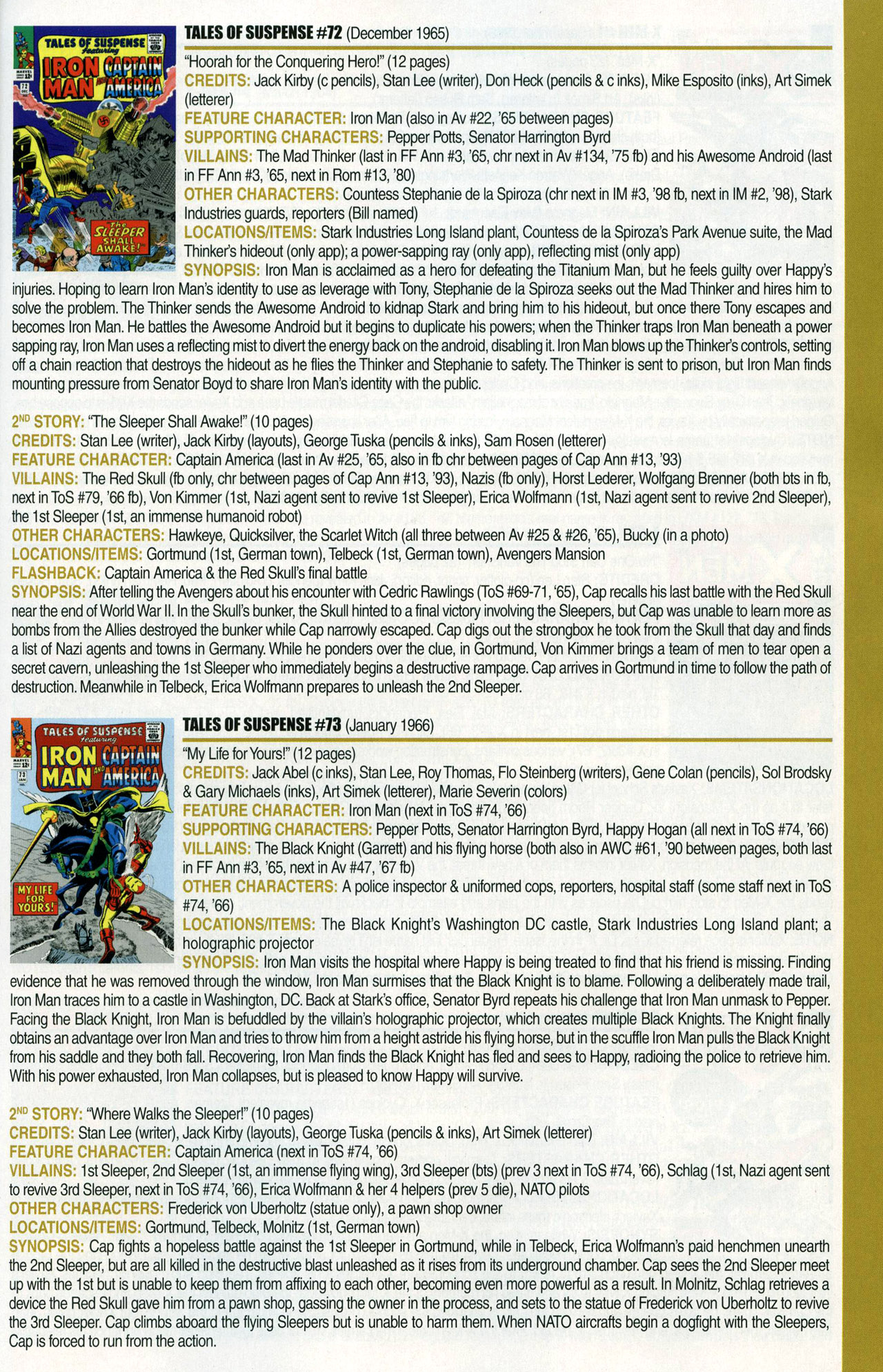 Read online Official Index to the Marvel Universe comic -  Issue #1 - 45