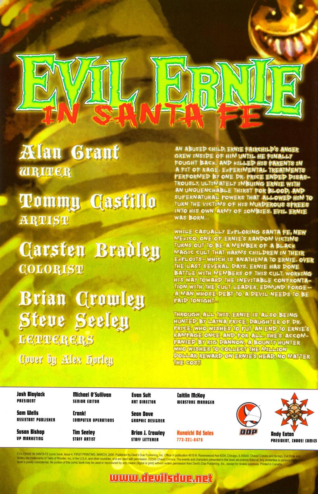 Read online Evil Ernie in Santa Fe comic -  Issue #4 - 2