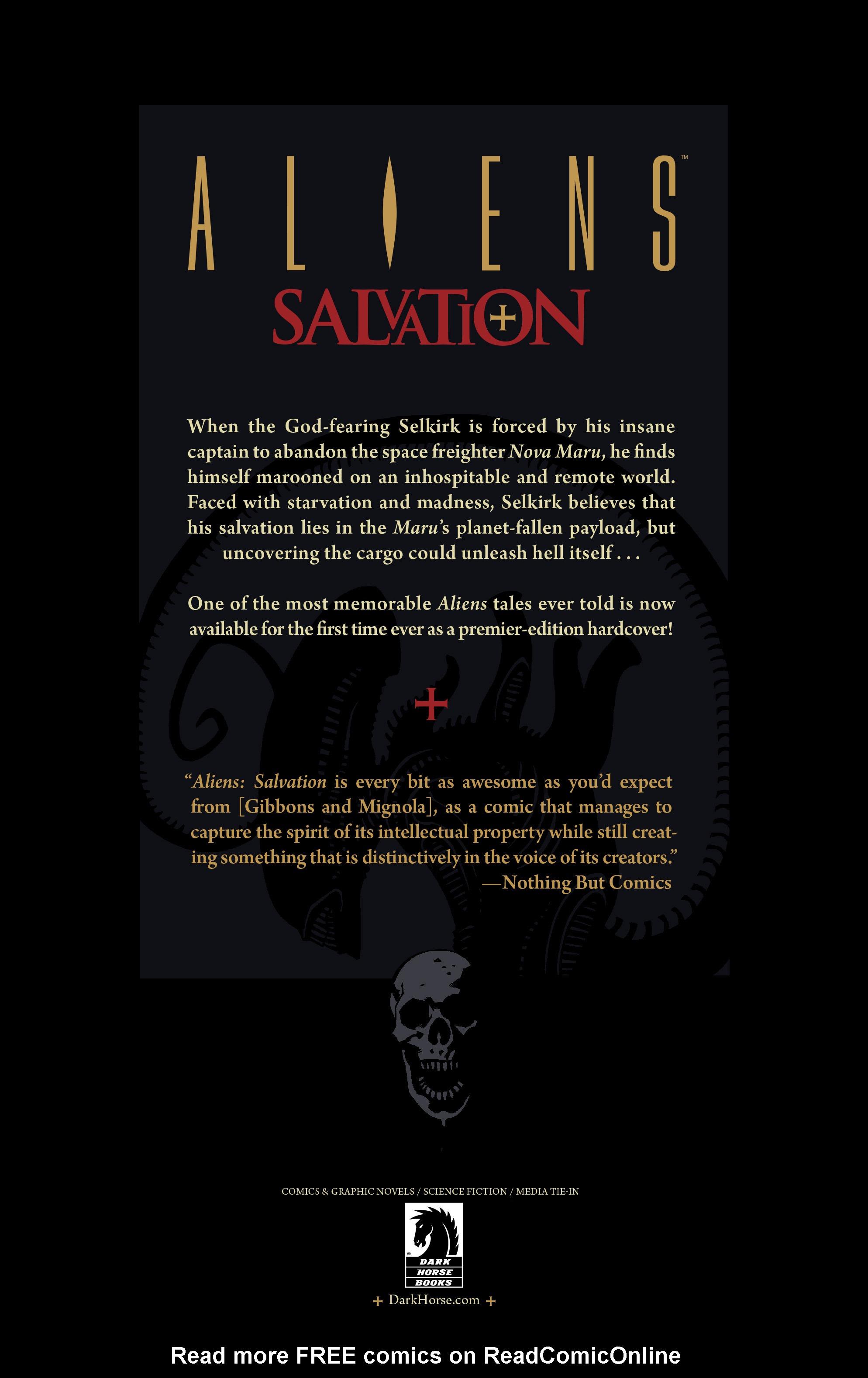 Read online Aliens: Salvation comic -  Issue # TPB - 57