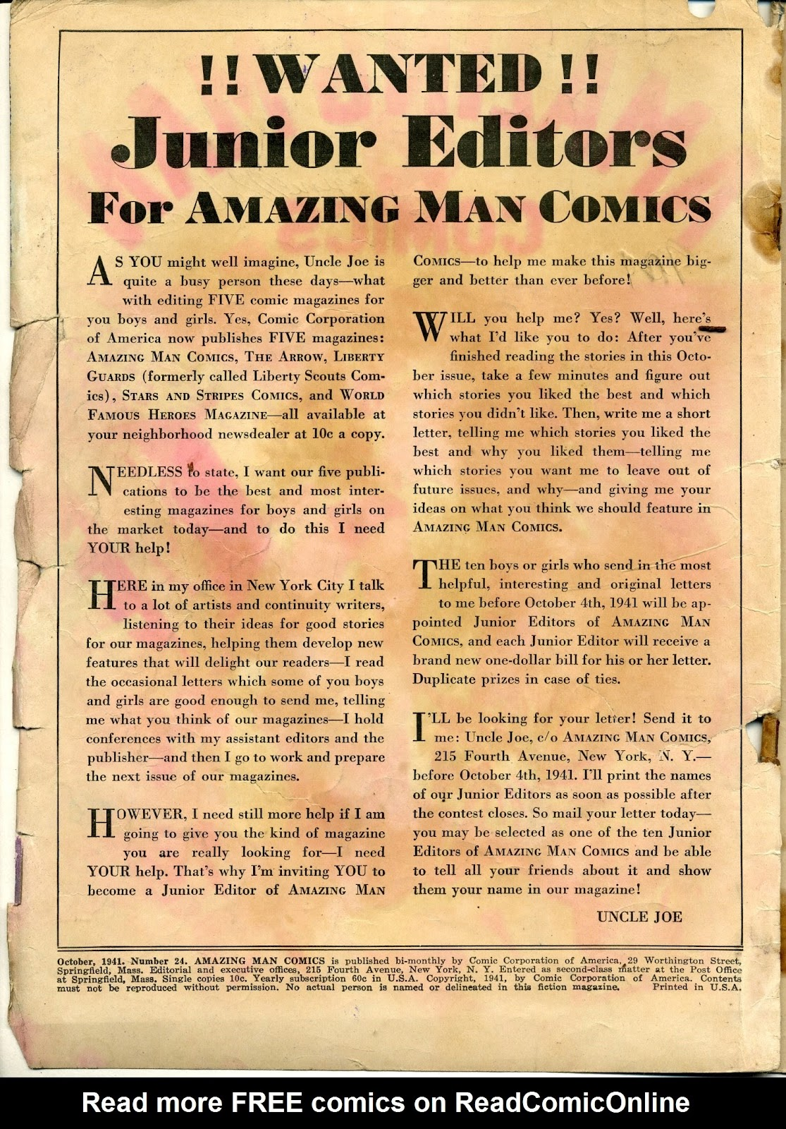 Amazing Man Comics issue 24 - Page 2