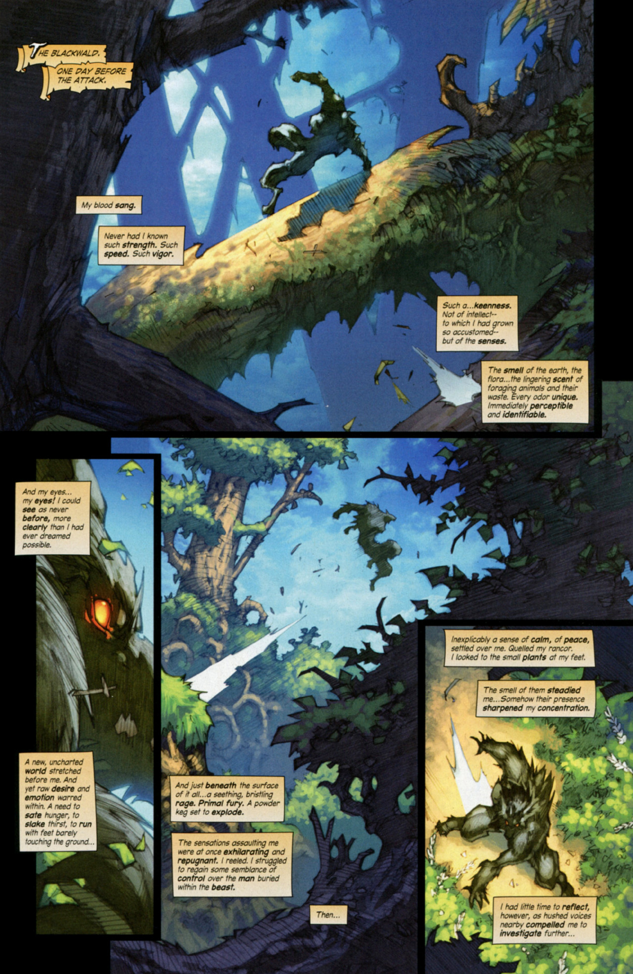 Read online World of Warcraft: Curse of the Worgen comic -  Issue #3 - 3