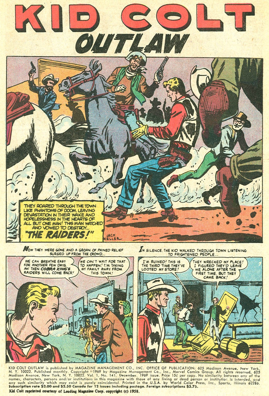 Kid Colt Outlaw issue 141 - Page 3