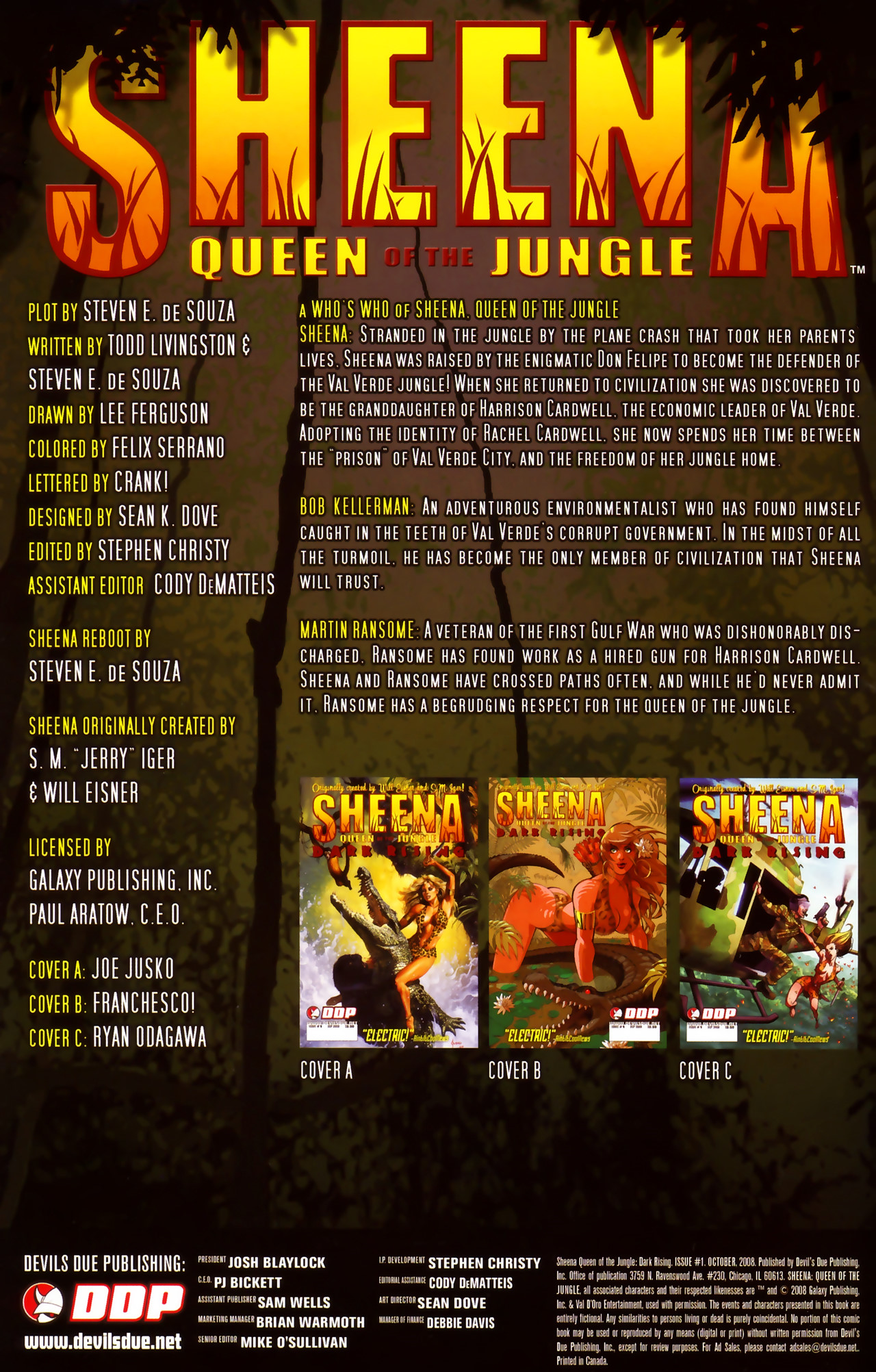 Read online Sheena Queen of the Jungle: Dark Rising comic -  Issue #1 - 2