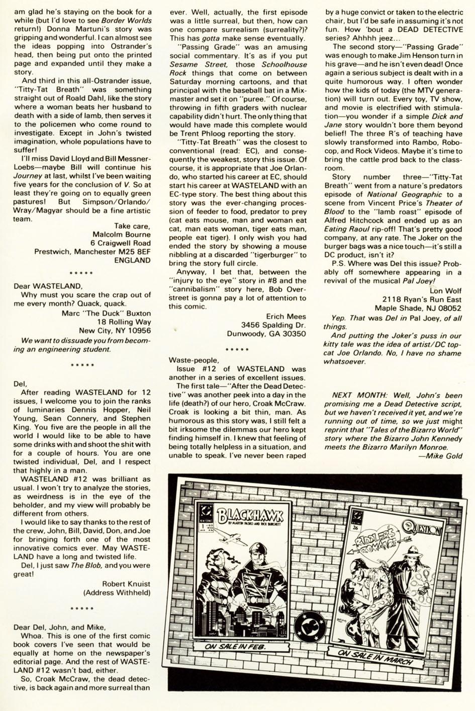 Wasteland (1987) 16 Page 30