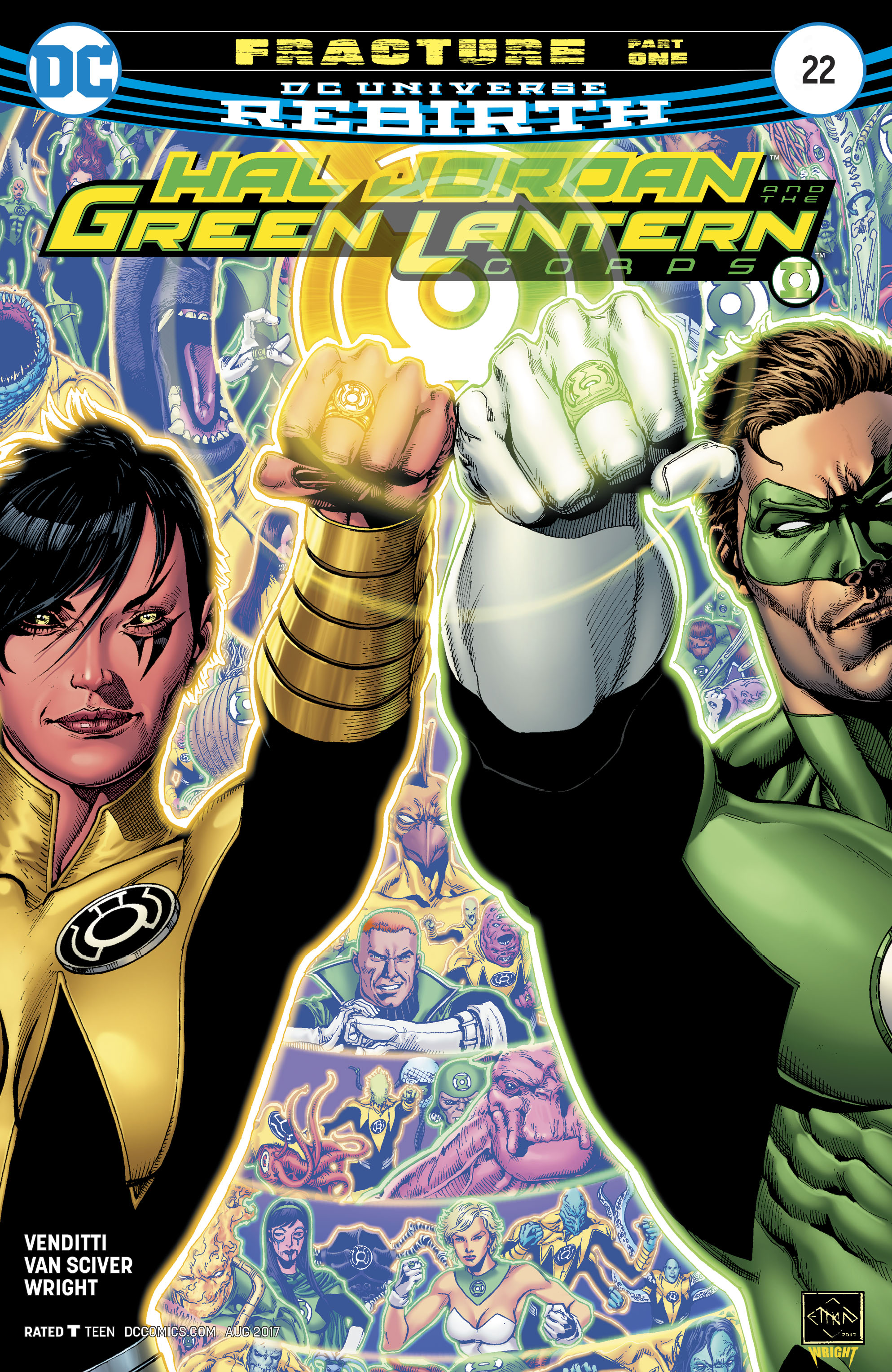 Read online Hal Jordan And The Green Lantern Corps comic -  Issue #22 - 1