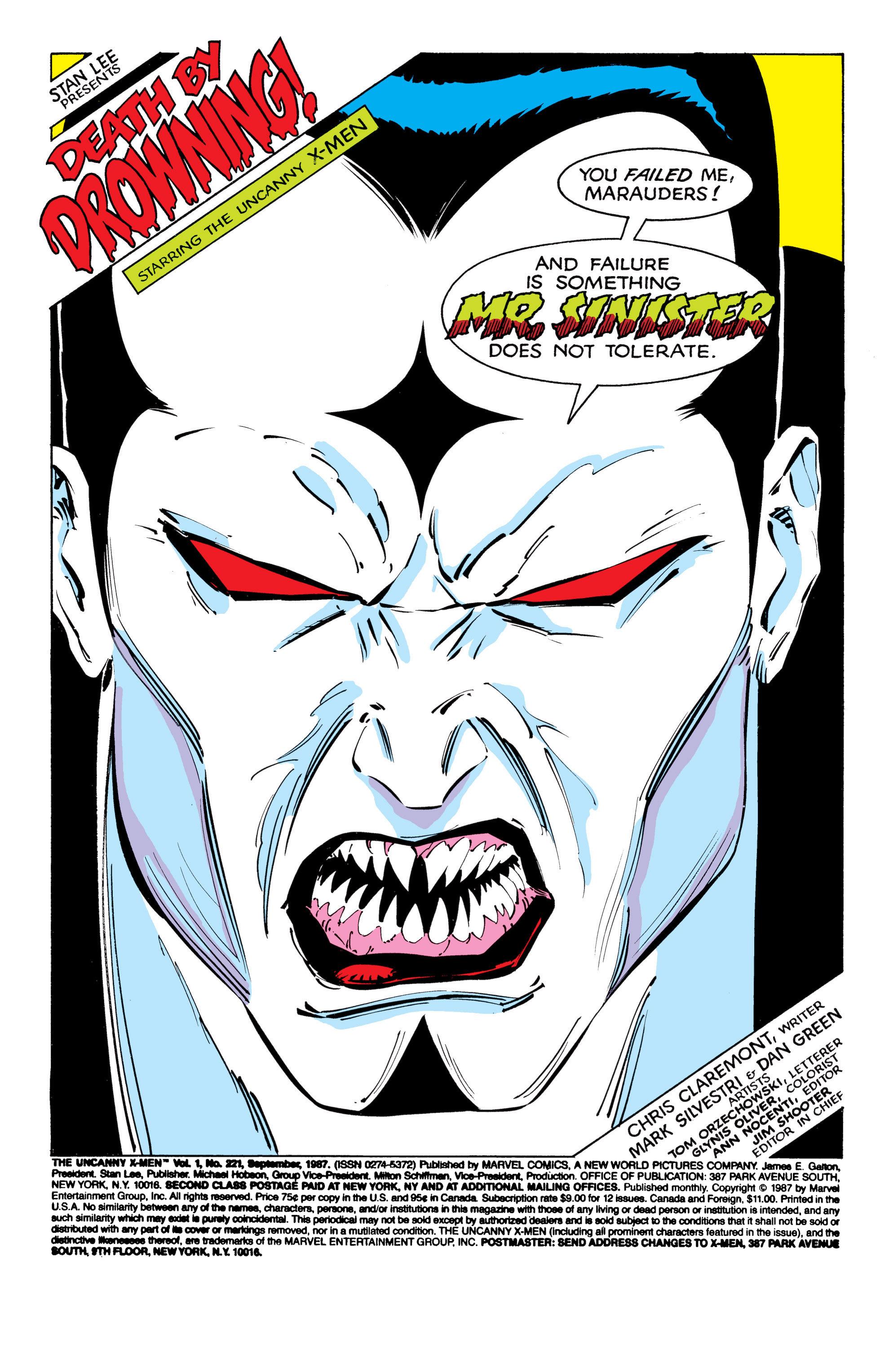 Read online Uncanny X-Men (1963) comic -  Issue #221 - 2