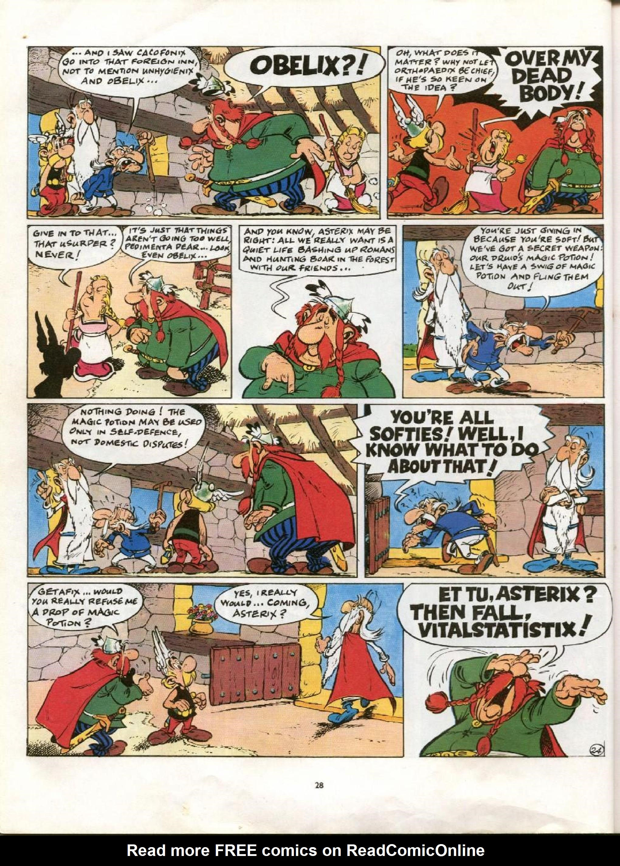 Read online Asterix comic -  Issue #21 - 25