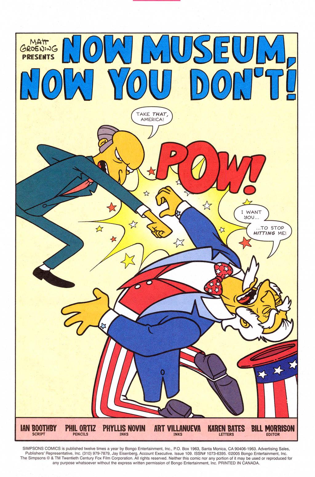 Read online Simpsons Comics comic -  Issue #109 - 2