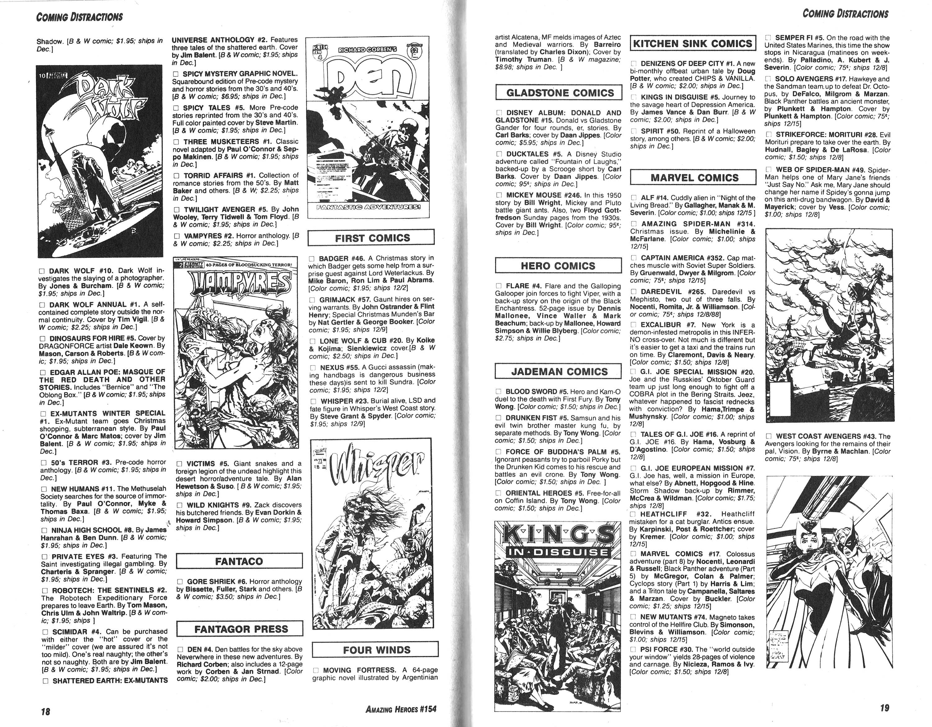 Read online Amazing Heroes comic -  Issue #154 - 10
