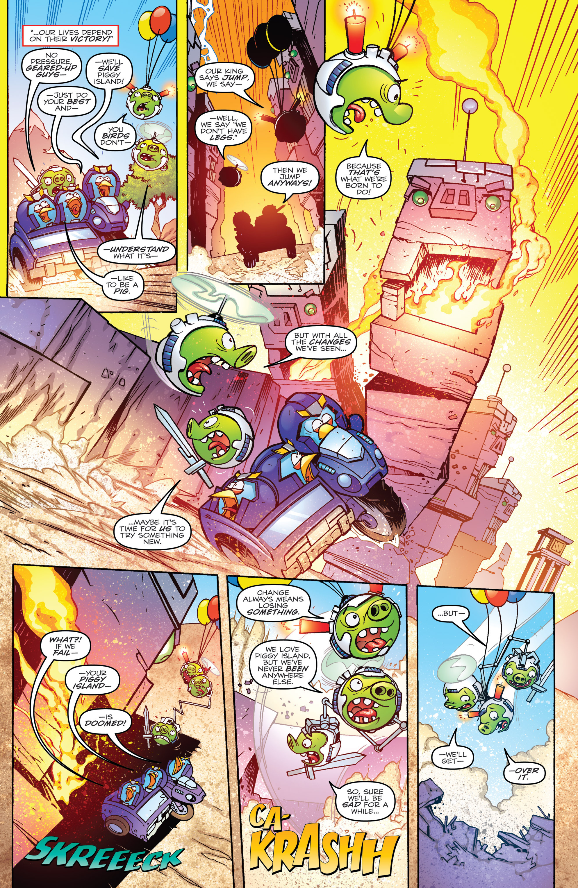 Read online Angry Birds Transformers comic -  Issue #4 - 8