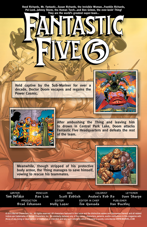Read online Fantastic Five (2007) comic -  Issue #3 - 2
