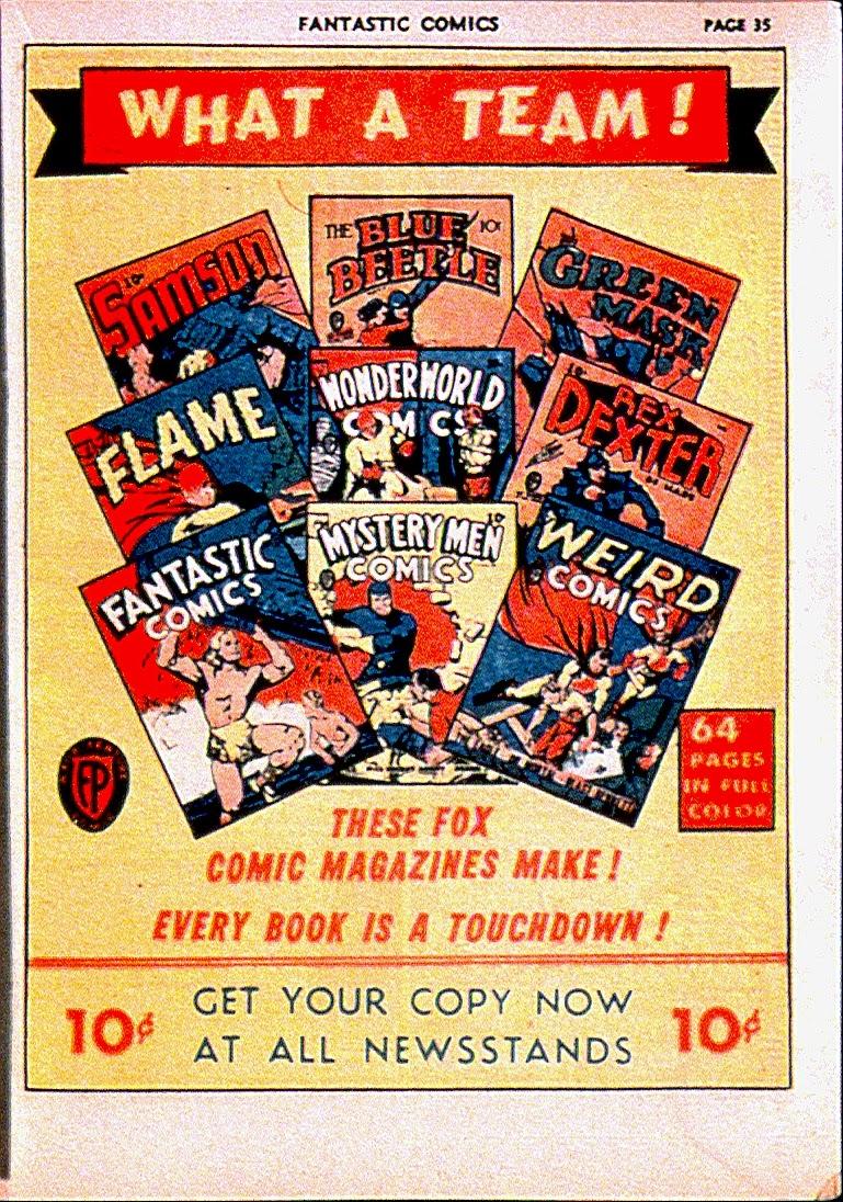 Read online Fantastic Comics comic -  Issue #13 - 38