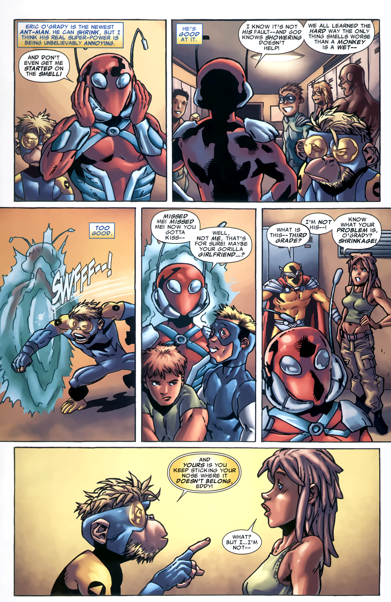 Read online Marvel Apes: Speedball Special comic -  Issue # Full - 8