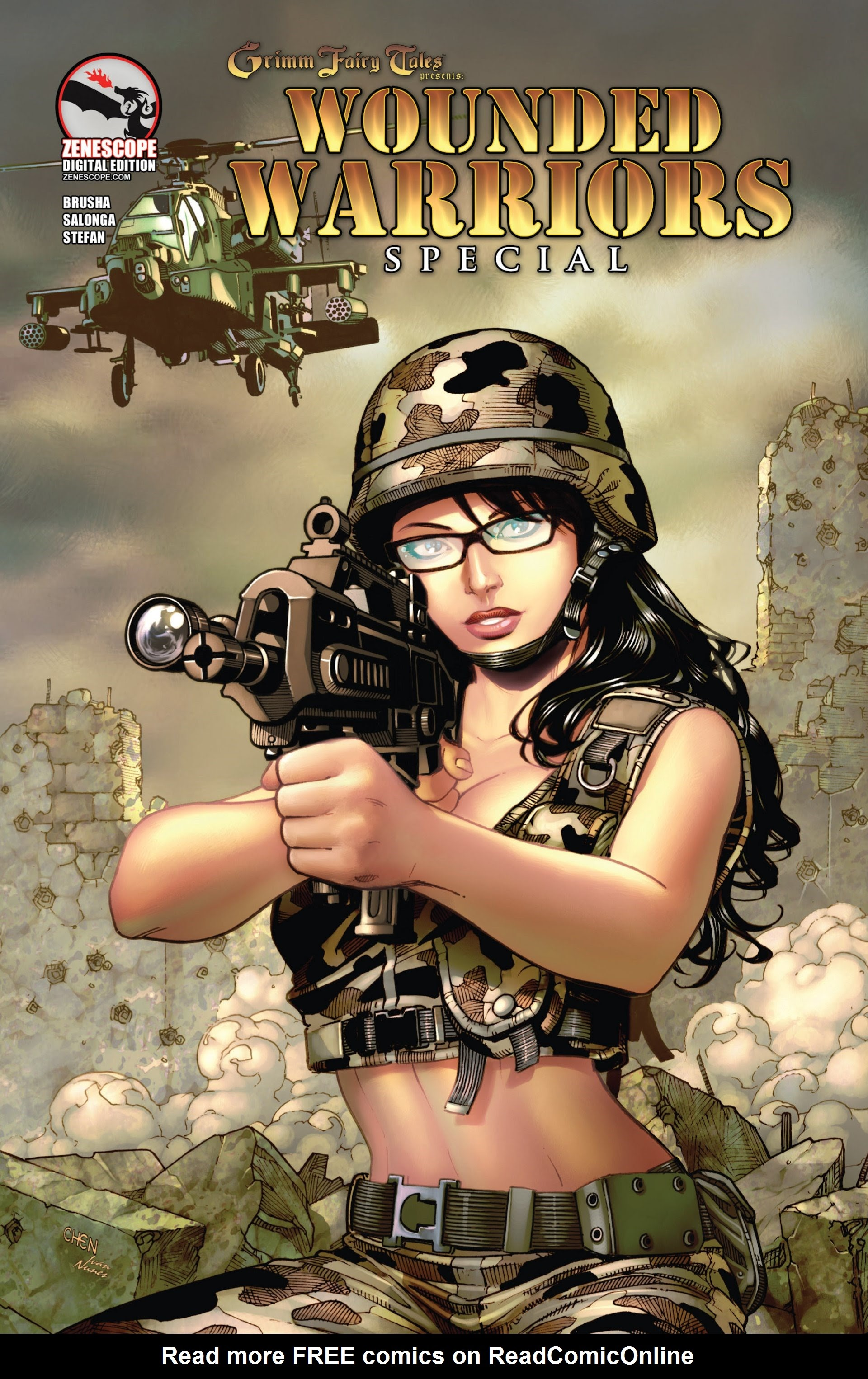 Grimm Fairy Tales presents Wounded Warriors Special Full Page 1