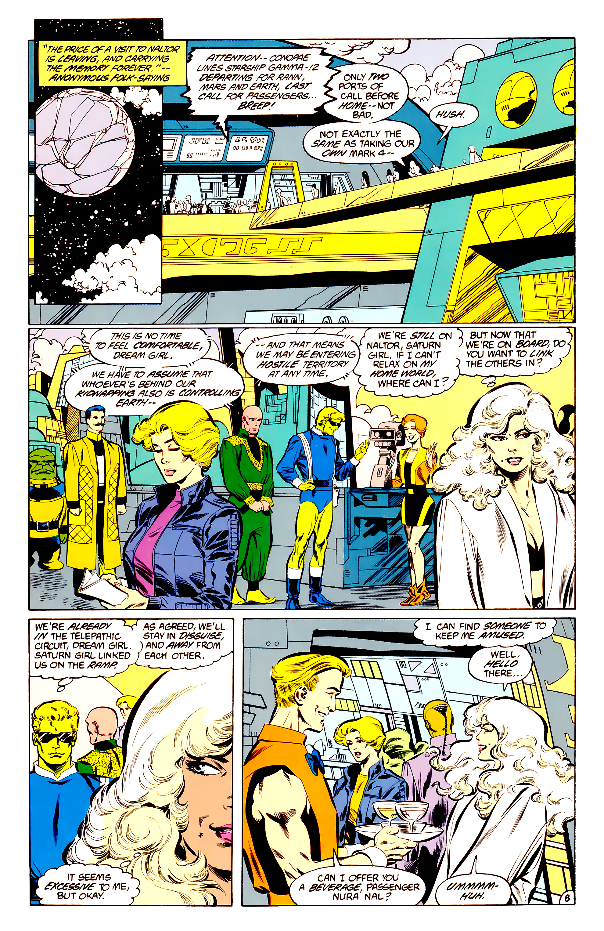 Legion of Super-Heroes (1984) 34 Page 8