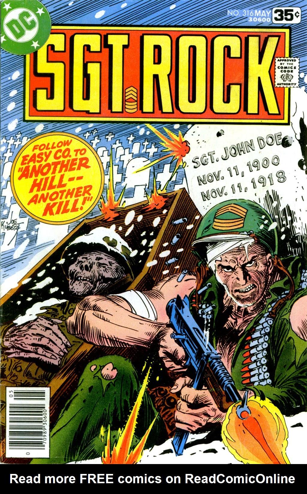Read online Sgt. Rock comic -  Issue #316 - 1