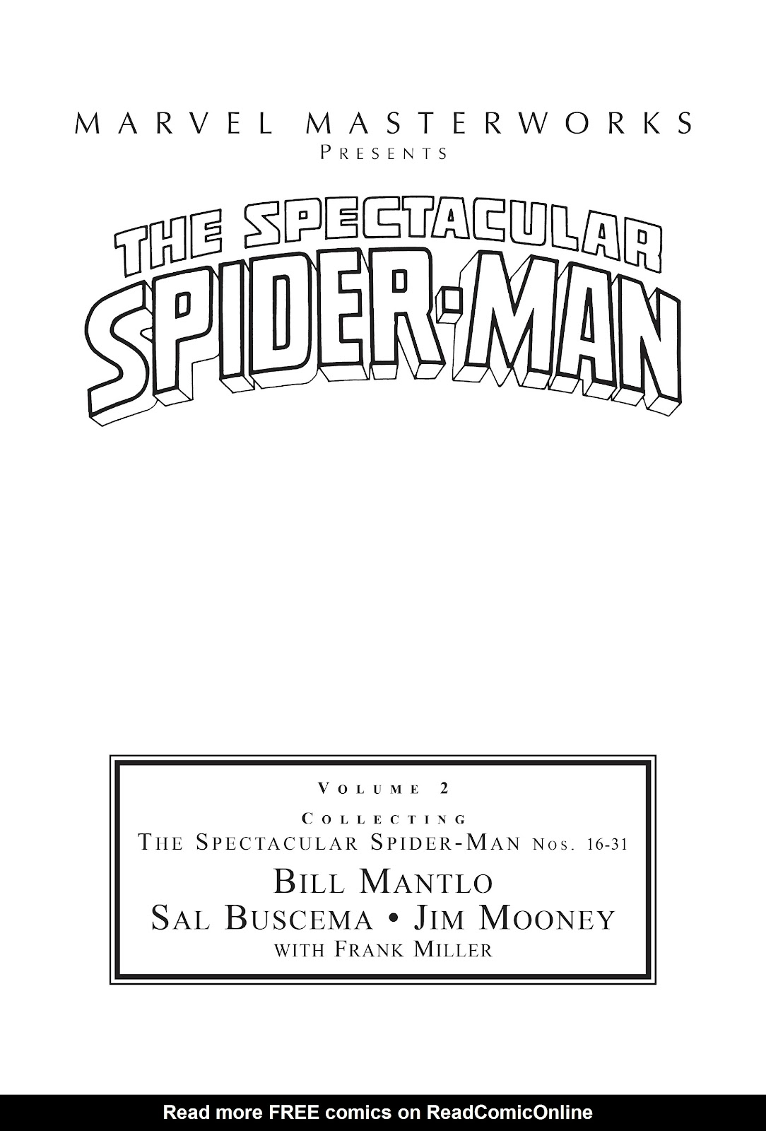 Read online Marvel Masterworks: The Spectacular Spider-Man comic -  Issue # TPB 2 (Part 1) - 2