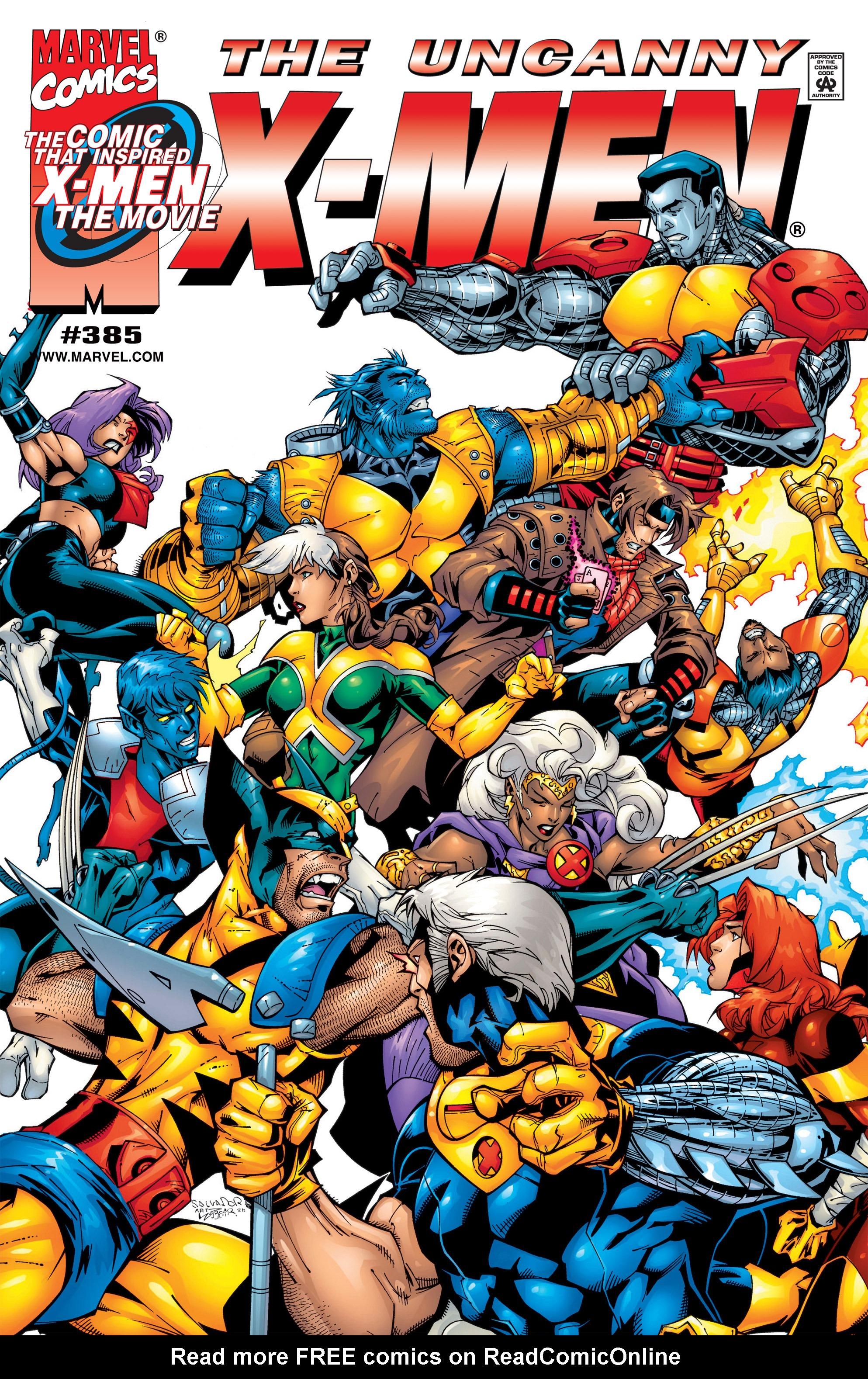 Read online Uncanny X-Men (1963) comic -  Issue #385 - 1