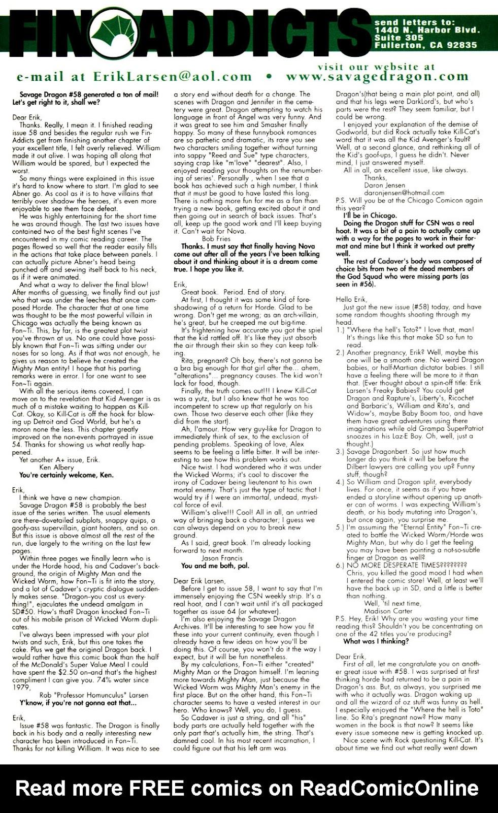 The Savage Dragon (1993) Issue #60 #63 - English 22