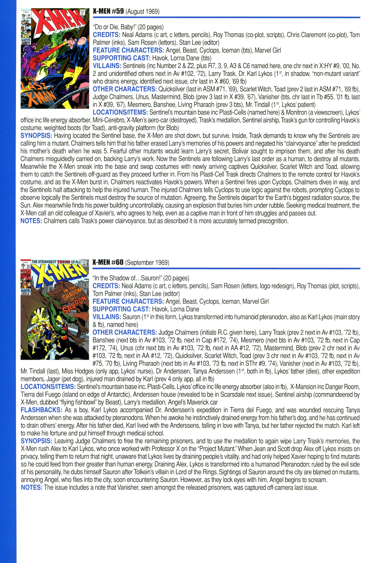 Read online Official Index to the Marvel Universe comic -  Issue #2 - 50