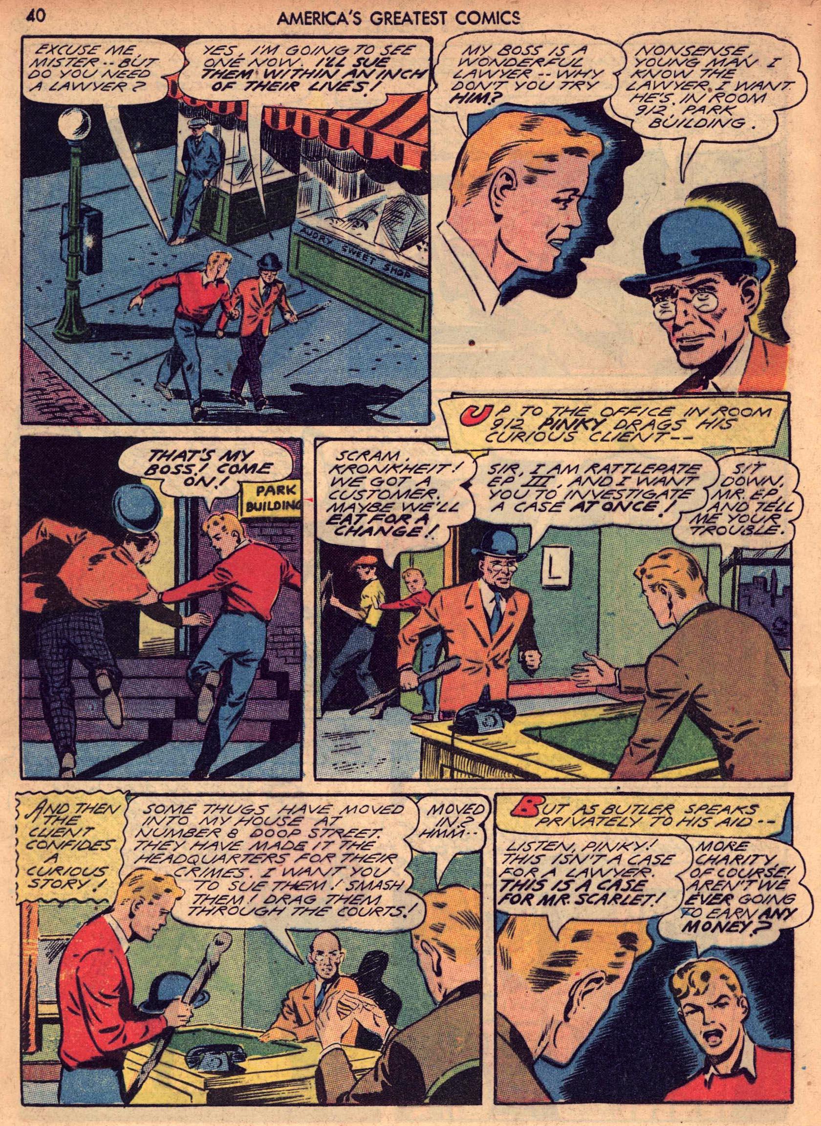 Read online America's Greatest Comics comic -  Issue #7 - 39