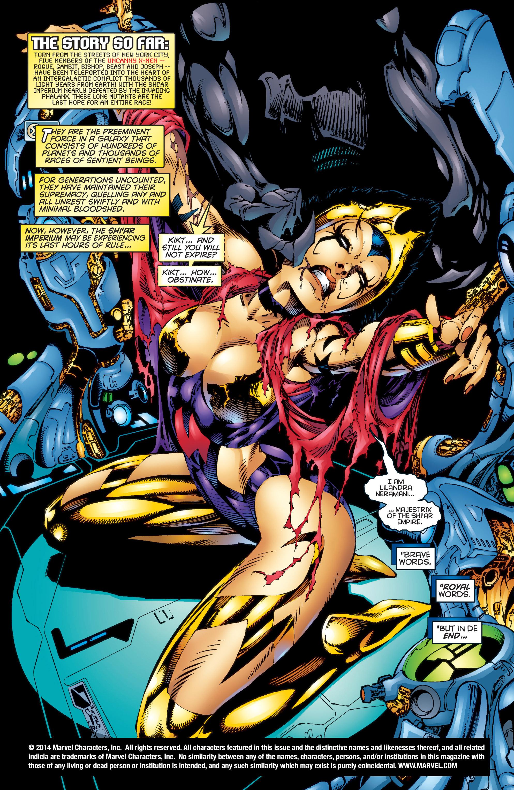 Read online Uncanny X-Men (1963) comic -  Issue #344 - 2