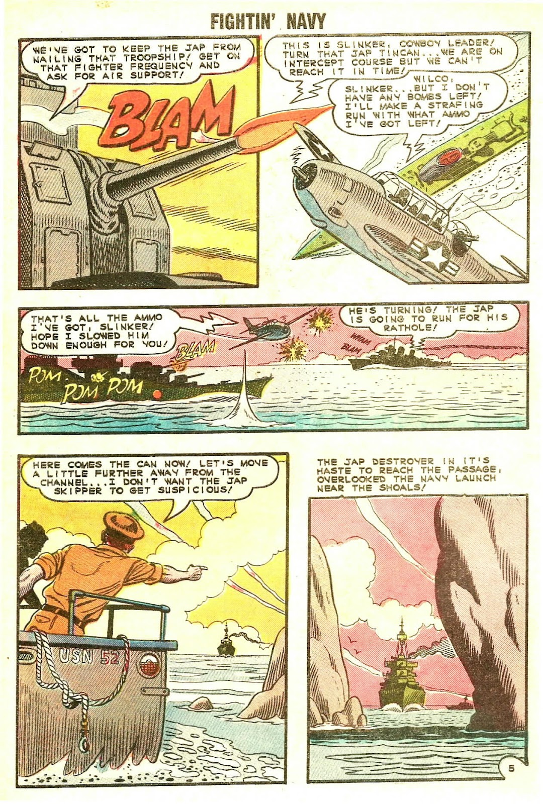 Read online Fightin' Navy comic -  Issue #120 - 8