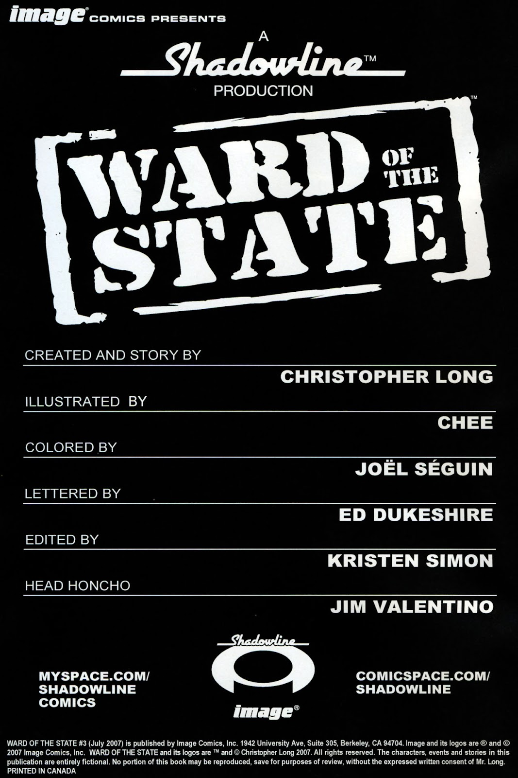 Read online Ward Of The State comic -  Issue #3 - 2