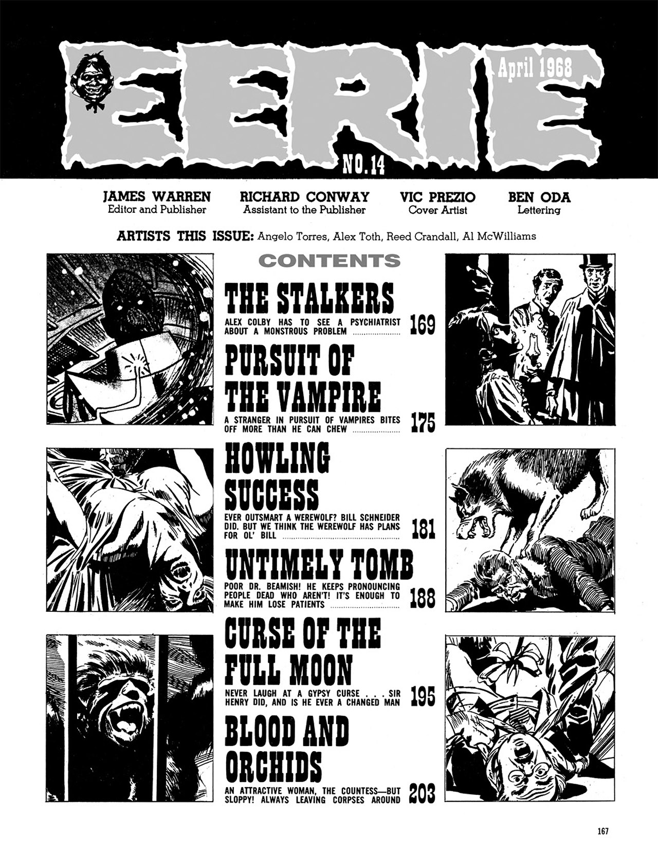 Read online Eerie Archives comic -  Issue # TPB 3 - 168