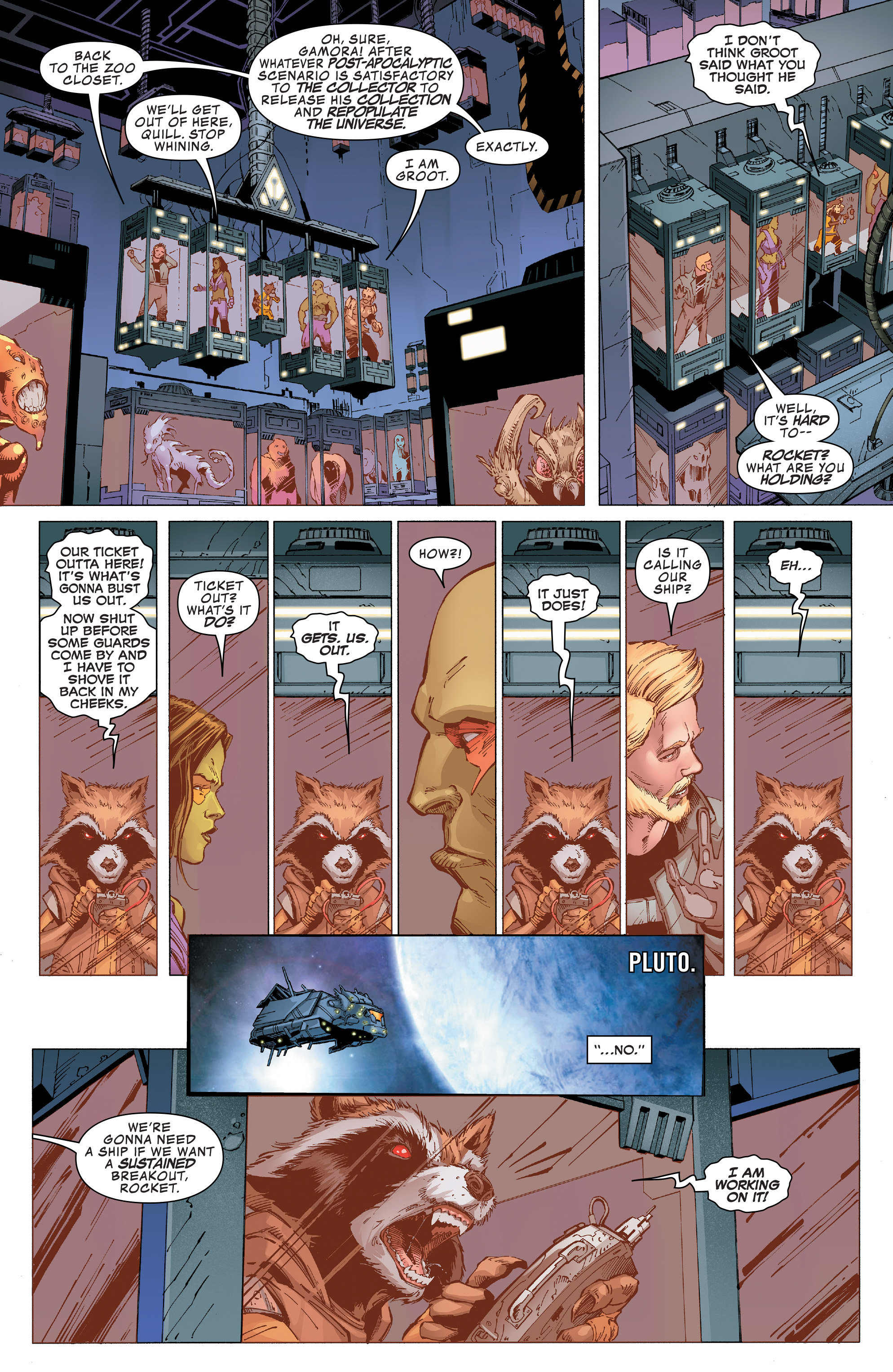 Read online Guardians of the Galaxy: Mission Breakout comic -  Issue # Full - 8