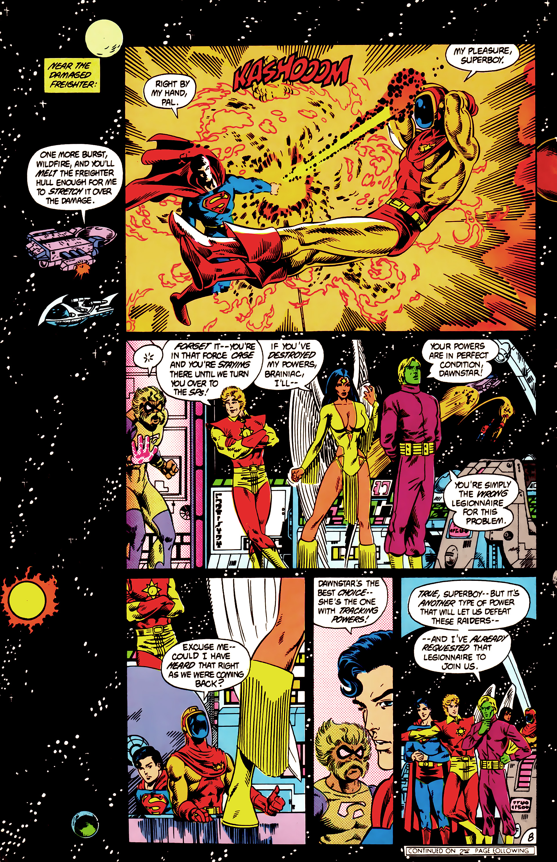 Legion of Super-Heroes (1984) 12 Page 8
