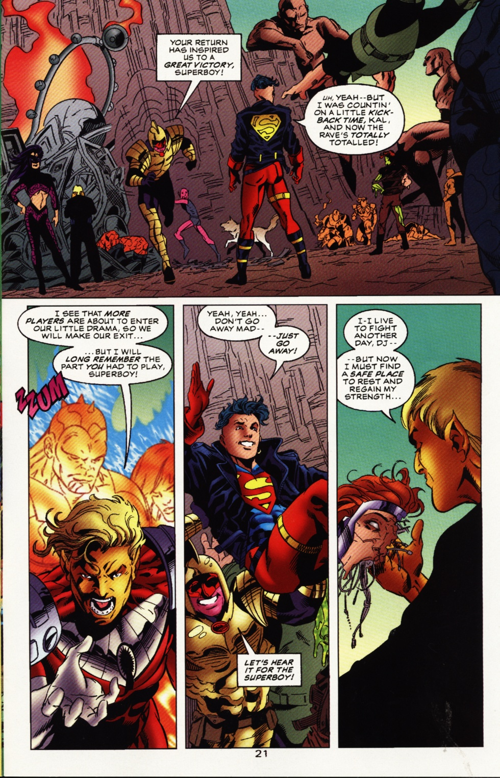 Read online Superboy & The Ravers comic -  Issue #12 - 22