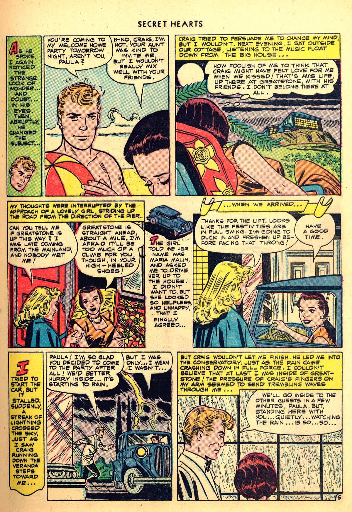 Read online Secret Hearts comic -  Issue #6 - 7