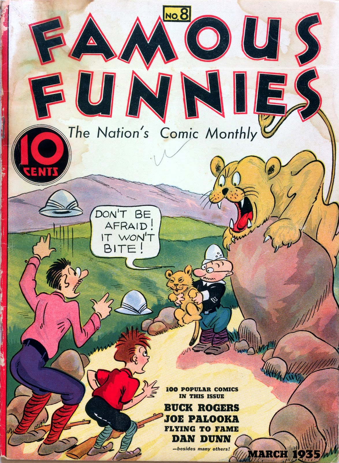 Read online Famous Funnies comic -  Issue #8 - 1
