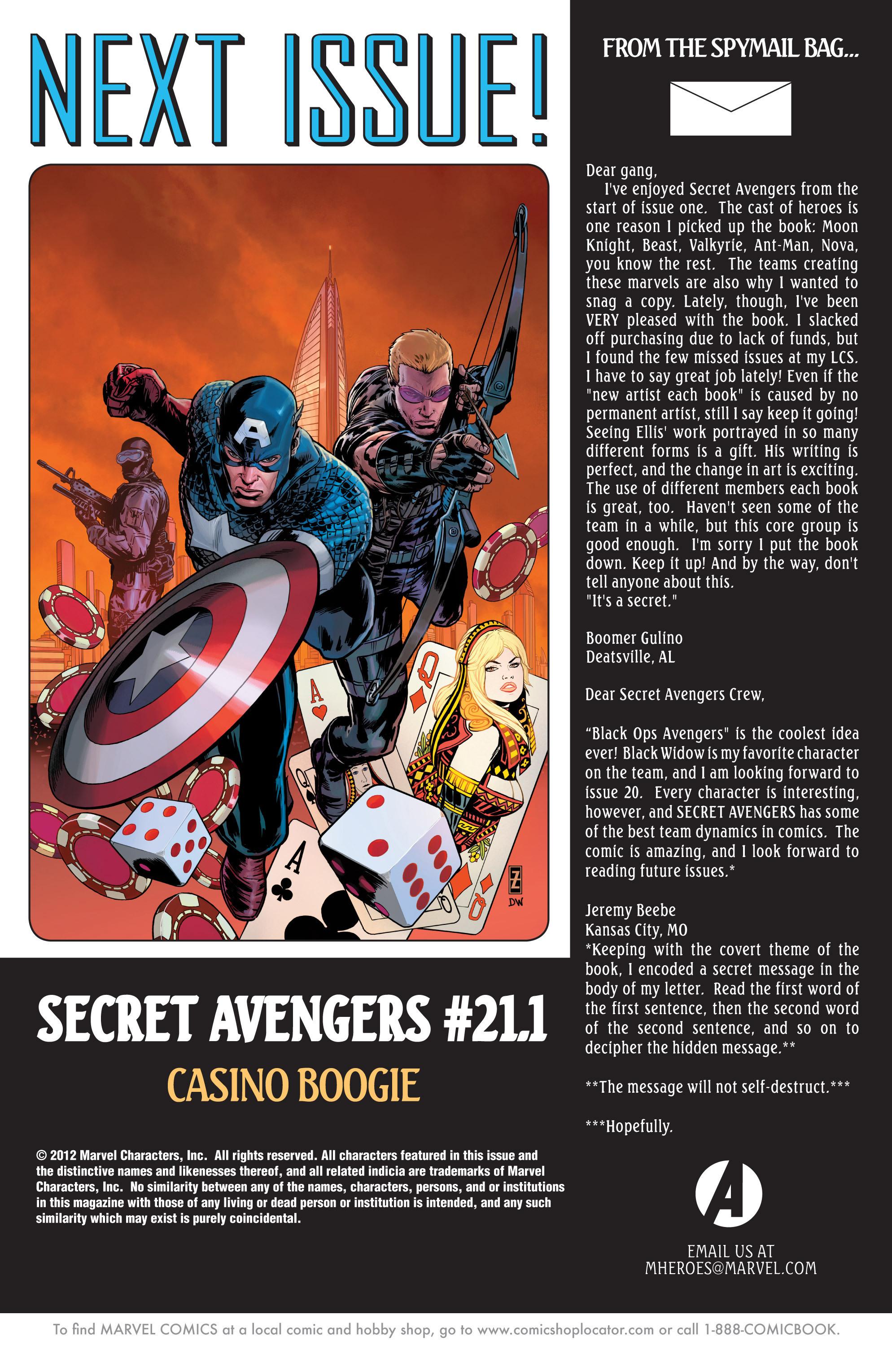 Read online Secret Avengers (2010) comic -  Issue #21 - 22