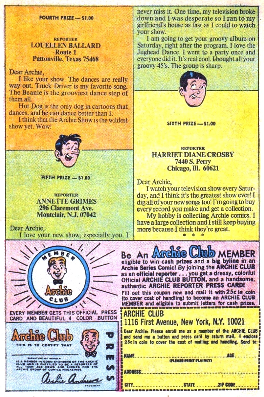 Read online Archie (1960) comic -  Issue #196 - 11