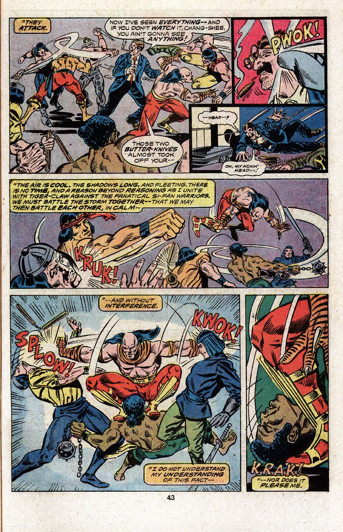 Read online Giant-Size Master of Kung Fu comic -  Issue #4 - 35
