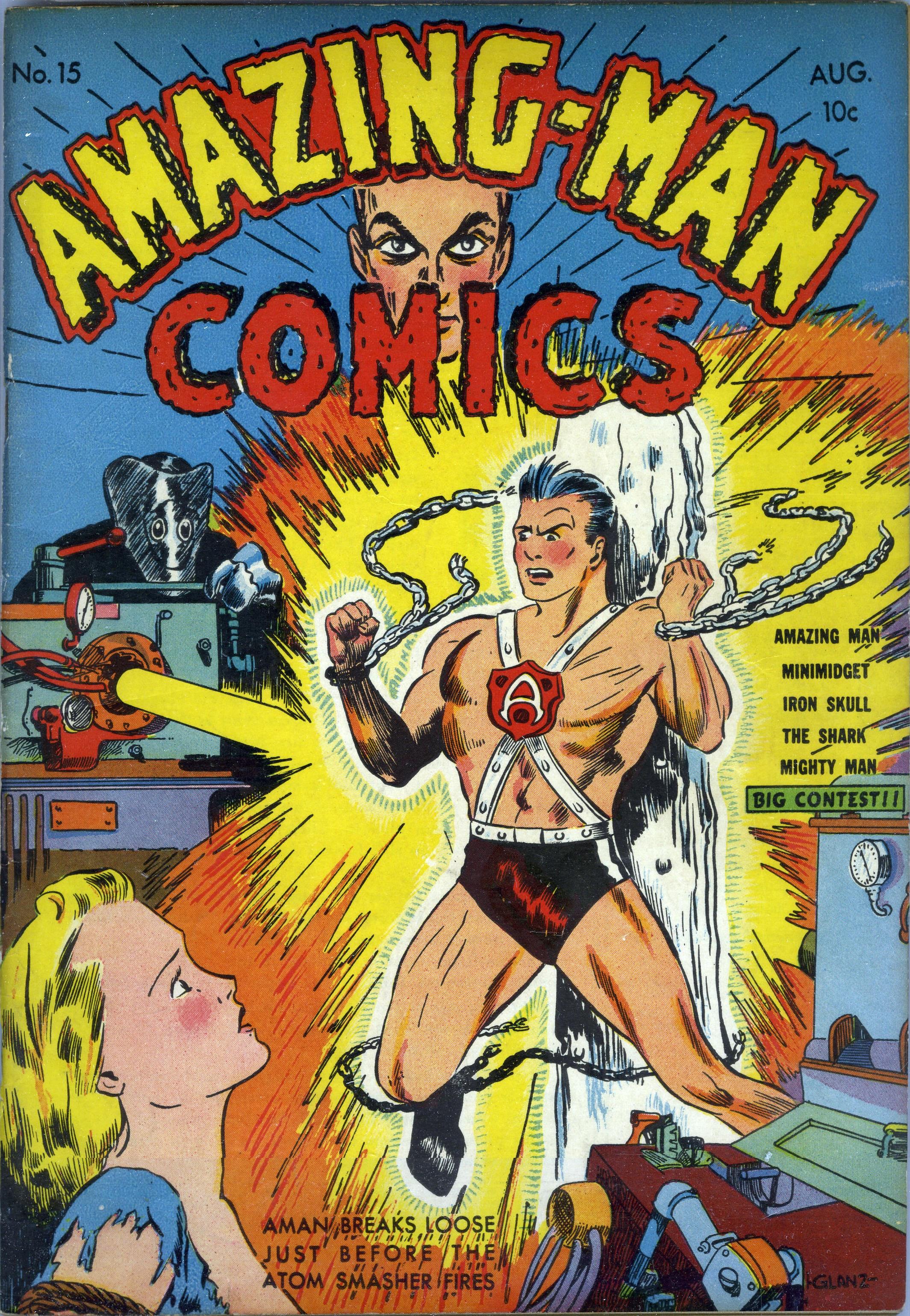 Read online Amazing Man Comics comic -  Issue #15 - 1