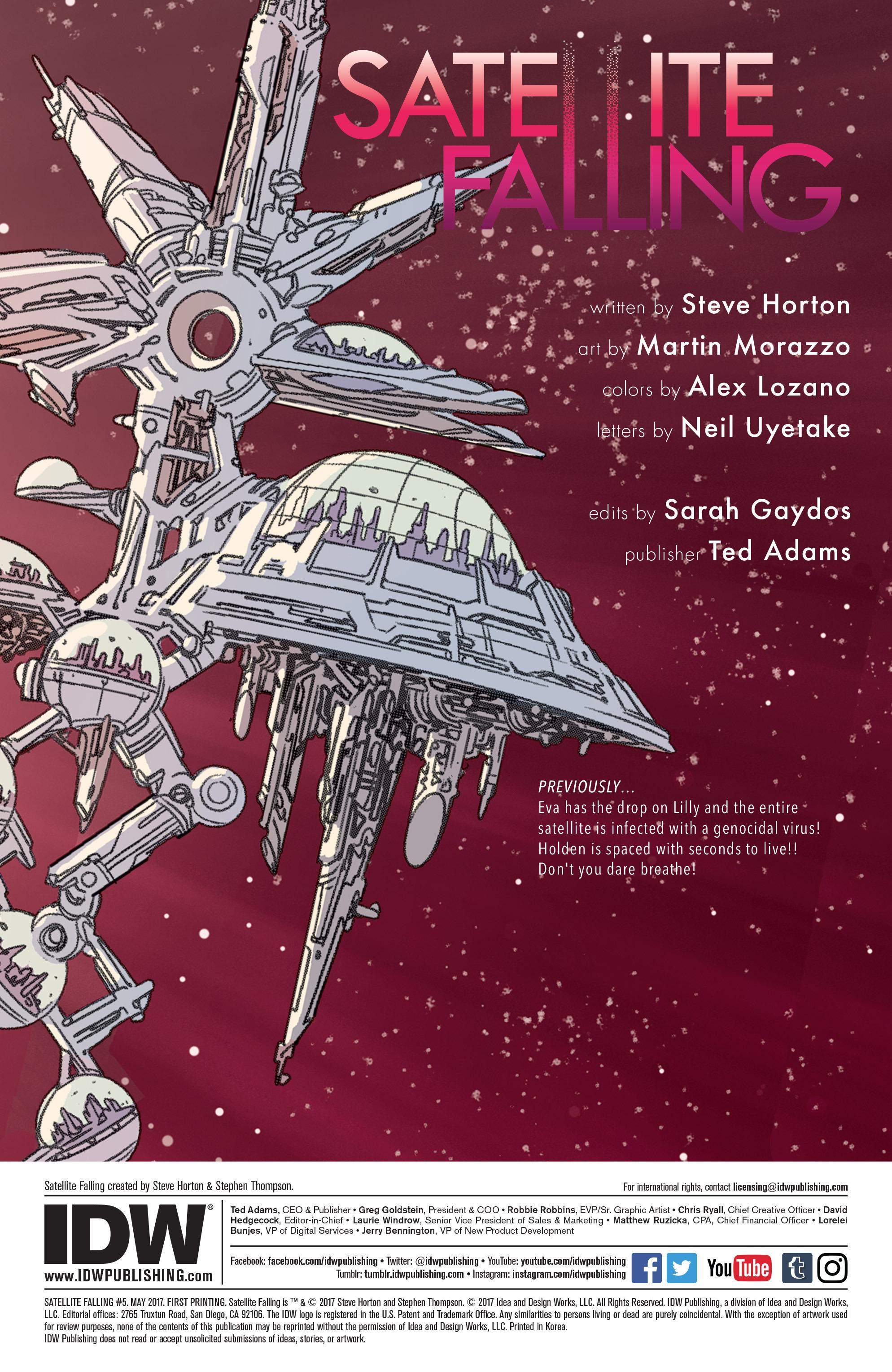 Read online Satellite Falling comic -  Issue #5 - 2