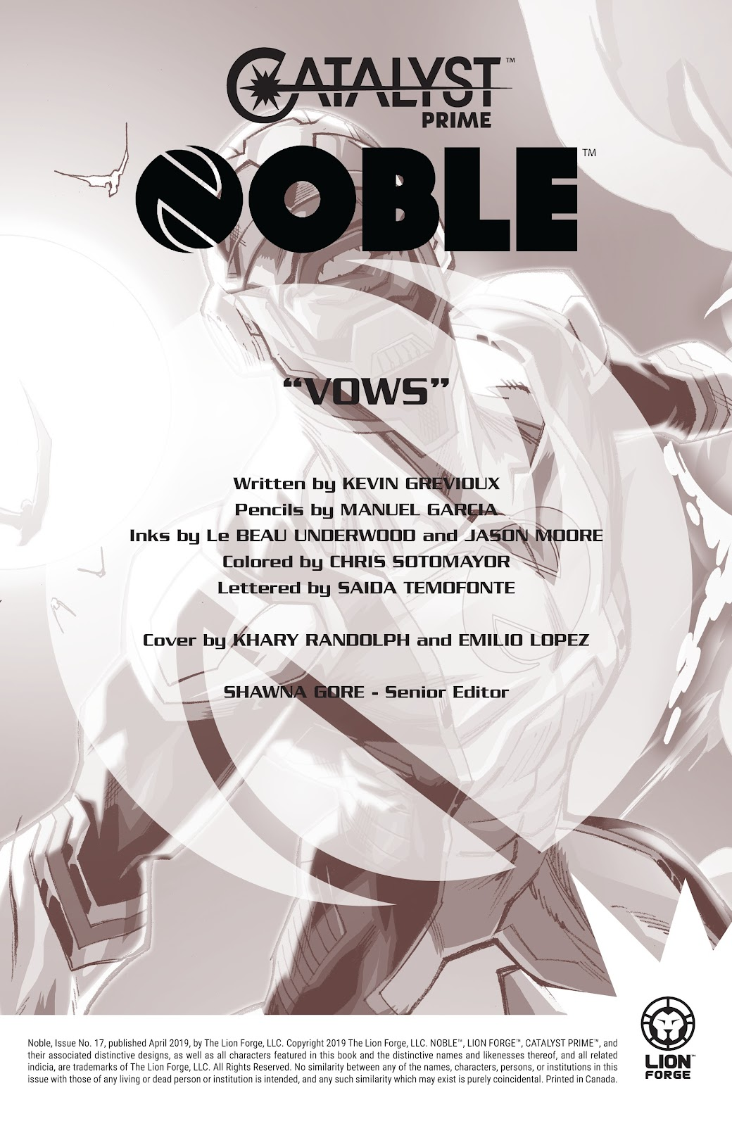 Read online Noble comic -  Issue #17 - 2